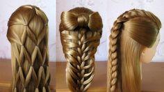3 coiffures faciles  Coiffures pour tous les jours, cheveux mi long / long