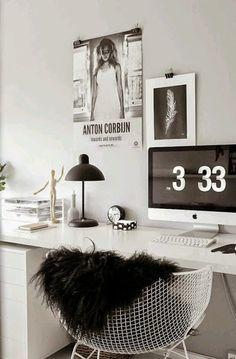 10 escritorios en blanco y negro   Decorar tu casa es facilisimo.com