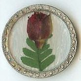 Carol Beach Knob, Brown Flower w/Leaf, 1 3/8''