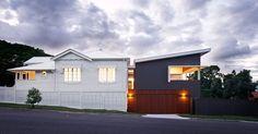 Corner House | KO & Co Architecture Corner House, Designs To Draw, Kos, Restoration, Garage Doors, Shed, Cottage, Exterior, Outdoor Structures