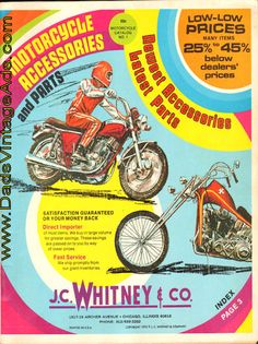 1972 J.C. Whitney & Co. Motorcycle Accessories and Parts Catalog