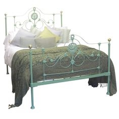 Double Cast Iron Antique Bed | From a unique collection of antique and modern beds at https://www.1stdibs.com/furniture/more-furniture-collectibles/beds/