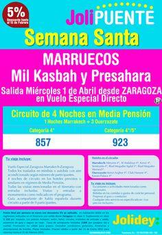 Jolipuente S. Santa Marruecos -Mil Kasbah y Presahara- desde 857€. Salidas 1 Abril desde Zaragoza ultimo minuto - http://zocotours.com/jolipuente-s-santa-marruecos-mil-kasbah-y-presahara-desde-857e-salidas-1-abril-desde-zaragoza-ultimo-minuto/