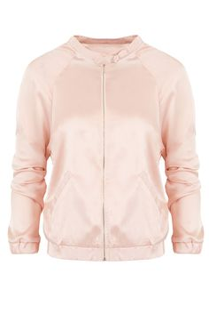 Silk Bomber Jacket Pink   The Musthaves