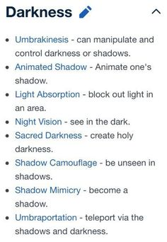 Could be how some of Anima's powers would be like… Darkness powers. Could be how some of Anima's powers would be like… Book Writing Tips, Creative Writing Prompts, Writing Resources, Writing Help, Writing Ideas, Magia Elemental, Elemental Powers, Writing Fantasy, Writing Promts