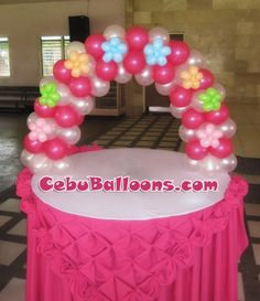Floral Cake Arch for Girl Christening