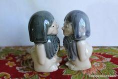 Vintage: DOS FIGURAS DE CAVERNICOLAS EN PORCELANA DE MIRETE - Foto 2 - 121051511 Tea Sets, Porcelain Ceramics, Pictures