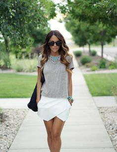 How To Wear Skorts - Street Style Inspiration Ideas Looks Chic, Looks Style, Look Fashion, Fashion Outfits, Womens Fashion, Fashion Trends, Girl Fashion, Pretty Outfits, Cute Outfits