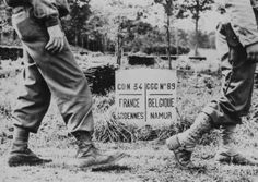 American Soldiers Crossing Border of France and Belgium, 1944