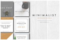Minimalist Instagram Bundle by Aylin Marie Designs on @creativemarket