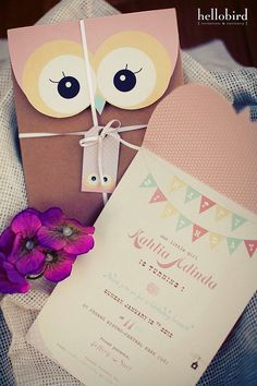 Owls Birthday Party Invitations