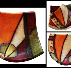 Cuencos en pasta piedra Pottery Painting, Ceramic Painting, Pottery Art, Ceramic Wall Art, Ceramic Decor, Concrete Projects, Clay Projects, Mundo Hippie, Pasta Piedra
