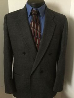 7ed794d7b Milano For Jordan Marsh 42R Mens Wool Tweed Doubled Breasted Blazer Sport  Coat #Milano #