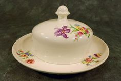 Vintage Butter Dish by Holland's Petrus Regout