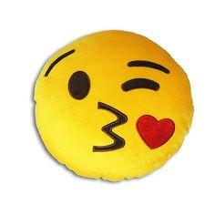 Almofada Redonda Emoji Pisca Beijo                                                                                                                                                                                 Mais