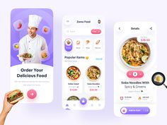 Food Delivery App by Imran Hossen for ZOMO on Dribbble Indian Salads, Motion App, Directory Design, Creer Un Site Web, Delivery App, Whats For Lunch, Any App, Mobile App Design, Job Opening