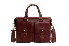 Image of 14'' UNISEX Genuine Leather Briefcase, Messenger Bag, Laptop Bag 7001R