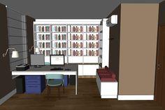 Projeto do escritório Atelier da Reforma - Estudo no SketchUp