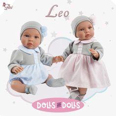 Nuestros Leo de la marca #Así son dulces y adorables. Sus preciosas facciones y los tonos pastel de sus vestiditos encandilan a cualquiera. ¿Te dejas encandilar?  #Leo #Adorable #Muñeca #Baby #Lovely #Sweet #Doll #Dolls #DollsAndDolls