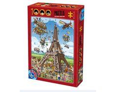 Puzzle D-Toys La Construcción de la Torre Eiffel de 1000 Piezas