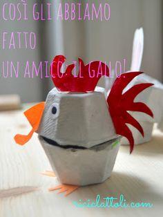 Easter chicken egg carton - Riciclattoli (e dintorni...)