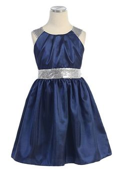 possible flower girl dress, matches blue and silver theme