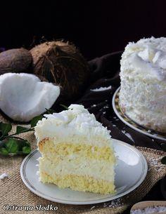 princessa kokosowa , biszkopt kokosowy , krem kokosowy , krem serowy , biszkopt puszysty , krem z kokosem , ciasto kokosowe , najlepsze ciasta , najlepsze ciasto kokosowe , krem serowy , ostra na slodko , latwe ciasta , tanie ciasta , pyszne ciasta Baking Recipes, Cake Recipes, Dream Cake, Food Cakes, Vanilla Cake, Donuts, Sweet Tooth, Bakery, Cheesecake
