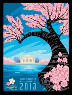 Check out this gorgeous artwork via #ErikAbelArt for the 2013 Cherry Blossom Festival #WashingtonDC @CherryBlossFest -- cherry blossoms are supposed to bloom this weekend!