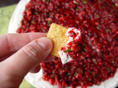 (Most amazing) Cranberry Cream Cheese Chip-Dip Recipe - Fun Cheap or Free