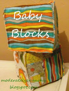 Day 7: DIY Baby Blocks | Moderately Crunchy
