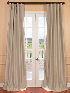 Antique Beige Blackout Faux Silk Taffeta Curtain - SKU: PTCH-BO130907 at https://halfpricedrapes.com