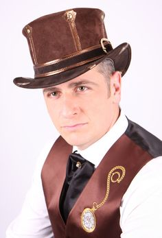 Men's Steam-trunk Top Hat by TheBlondeSwan
