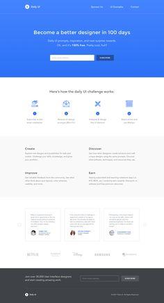 Daily ui landing page desktop