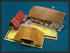 Czech Farm Building Paper Model Free Download