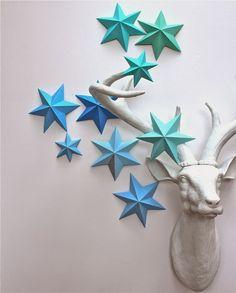 Wonderful DIY 3D Paper Lucky Star | WonderfulDIY.com