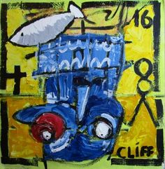 "Saatchi Art Artist Cliff Phillips; Painting, """"Peter"""" #art"