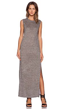 T by Alexander Wang Heather Maxi Dress in Charcoal