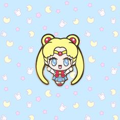 Your place to buy and sell all things handmade Sailor Moon Usagi, Cool Pins, Pin And Patches, Healer, Arcade, Chibi, Anime Art, Doodles, Kawaii