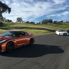 New Nissan GT-R on the track