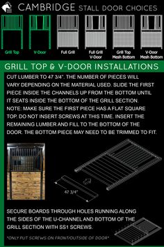 Installing our Cambridge series horse stall doors is very simple! Choose the door style of your choice to go with your Cambridge horse stall front. We have friendly horse stall experts who can help you every step along the way, too! 📞800-826-1287 #rammprojects #horsestalls #cambridgestalls #horses #horsestalls #horsestallideas #horsestable #barn #diy #barndiy #stalldoors
