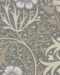 Tapet Morris Seaweed Silver/Ecru från William Morris & Co