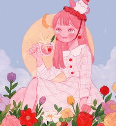 Cute Illustration, Character Illustration, Character Art, Character Design, Kawaii Art, Anime Art Girl, Beautiful Artwork, Aesthetic Art, Cute Drawings