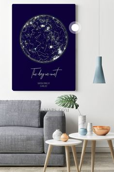Personalized Star Map - Newborn Baby Boy Baptism Gift Christmas Valentine's Day Personalized Birthday Unique Present Custom Nursery Art Print Constellation Map, Constellations, Baby Boy Baptism Gifts, Map Wall Art, New Homeowner, Unique Presents, House Numbers, Home Signs, Baby Boy Newborn