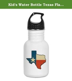 Kid's Water Bottle Texas Flag Texas Shaped. Product Number: 0001-1437377211 Perfect for school lunches or soccer games, our kid's stainless steel water bottle quenches children's thirst for individuality. Personalized for what kids love, it's both eco-friendly and compact. Made of 18/8, food-grade stainless steel. * No lining & no BPA or other toxins * Wide mouth for easy drinking * Durable, BPA-free & phalate-free screw-on top * Holds 0.35L (nearly 12 ounces) * Thin profile to fit most…