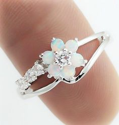 Great quality Sterling Silver Opal Ring ★Great gift for special someone because Opal is said to be a stone for love. It brings the inspiration of