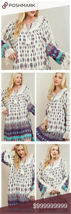 Ruffles BOHO Dress Plus Size This is THE dress every plus-sized woman should own!  Price is firm unless bundled.  Kori Dresses