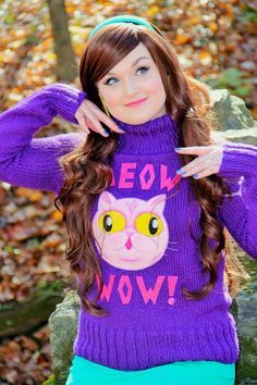 Mabel Pines Meow Wow Sweater Gravity Falls by TheMoonside on Etsy