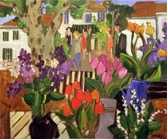 Claude A. Simard New York Museums, Canadian Painters, Canadian Art, Museum Of Fine Arts, Art Museum, Garden Mural, Simple Oil Painting, Happy Paintings, Paintings