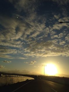 Afternoon sky at Bne airport drive