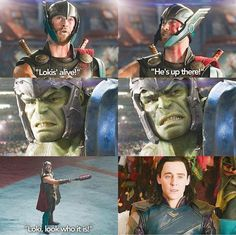 "Loki's like ""ah crap"" *flashbacks of being thrown like a rag doll*"